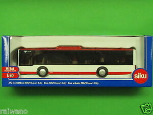1:50 Siku Super 3734 Stadtbus MAN Lions City verkehrsrot/reinweiss