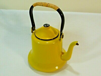 Enamelware Tea Kettle - ASAHI Vintage Tea Kettle/Tea Pot Enamelware Made in Japan