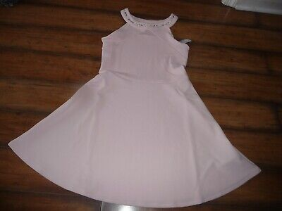 The Childrens Place Girls size 10/12 pink Jeweled Jacquard Dress Easter PRETTY