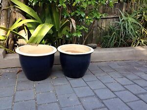 Large ceramic glazed pots Seaforth Manly Area Preview