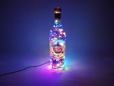 Havanna Club 1L - Flaschenlampe mit 120 LEDs Warmweiß UND Multicolor UMSCHALTBAR ()