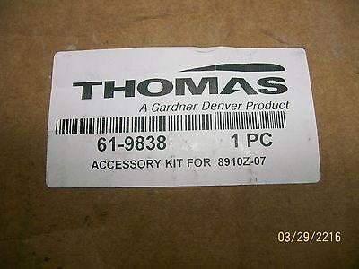 Thomas Gardner Denver 61-9838 Accessory Kit For 8910z-07 Welch Vacuum Pump New