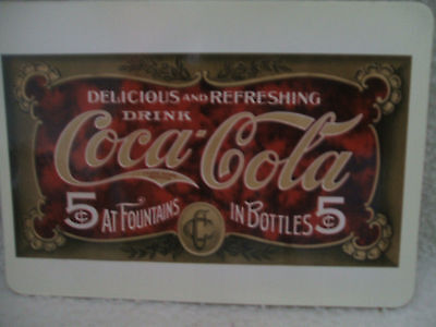 "Coca Cola 1994 Magent Post Card Or Refrigerator Magnet Coke Sign 5"" Lx 3 1/2"" Ht"