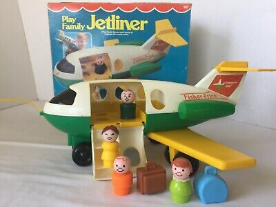 Vintage Fisher-Price Little People #182 Play Family Jetliner COMPLETE with Box
