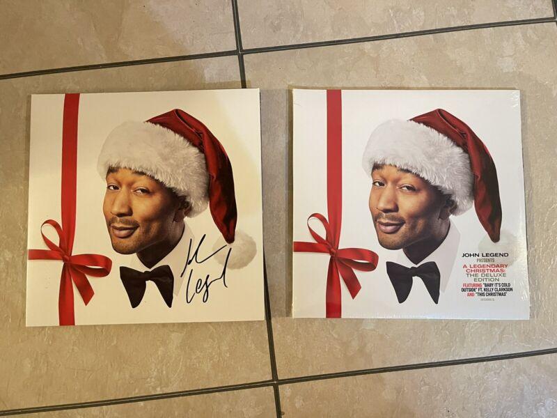 John Legend Signed Autograph Album Record Vinyl A Legendary Christmas Deluxe
