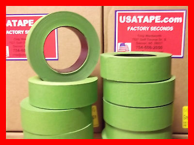 Lot Of 32 Rolls 1.5 X 60 Yrds Green Painters Masking Tape Fine Edge Made In Usa