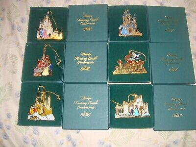 Rare Disney's Fantasy Castle Ornament Set Of 6 By Sheilas. New In Boxes