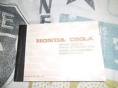 GENUINE HONDA C50LA OWNERS HANDBOOK 1970s? CUB90 mint