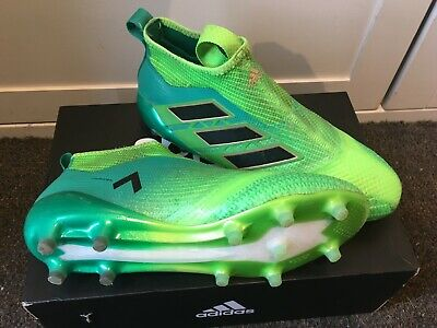 Adidas Ace 17+ Purecontrol FG BB5950 football boots Size 9 (UK) Solar Green