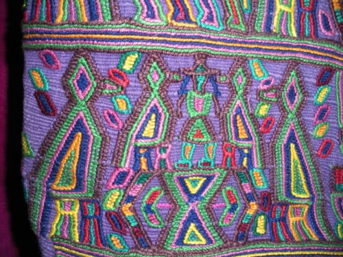 FROM GUATEMALA, LARGE TOTE W/ EMBROIDERY, FULLY LINED, NEW