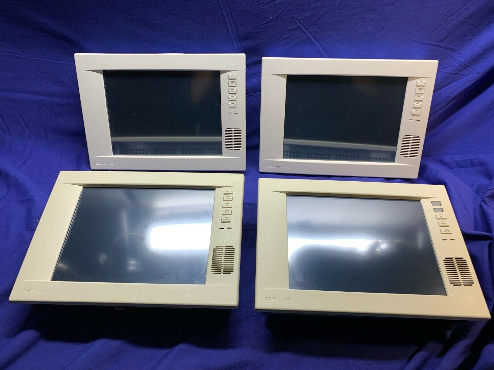 "Crestron TPS-4000L, 10.4"" TouchScreen, Lot of 4:  2-White/2Almond-PreOwned"