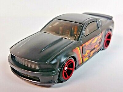 2019 Hot Wheels HW Flames '07 Ford Mustang Black/Flames OH-5 Wheels 1/64 Loose