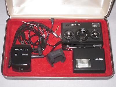 Vintage Rollei 35 MM Camera W/ Case Flash Instruction Book - $195.00
