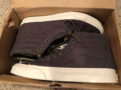 J.Crew Vans Sk8-Hi reissue men's sneakers Moldskin Olive Size 8.5 NIB