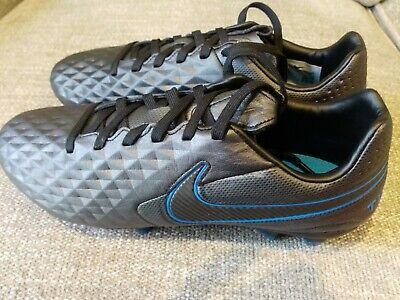 Nike Legend 8 Pro FG AT6133-004 Black Blue Hero Men's Soccer Cleats SZ 7.5