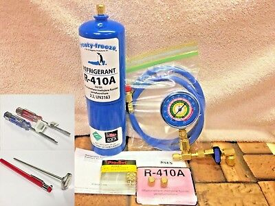 410a R410a R-410a Refrigerant Refill Kit Gauge Charging Hose Instructions A5