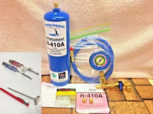 410A, R410a, R-410a, Refrigerant Refill Kit Gauge Charging Hose Instructions A5