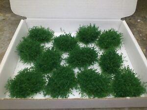 New!! 12 Dark Green Bushes OO/HO for model/miniture railway, figure gaming etc