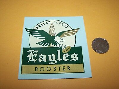 1960s or 1970s PHILADELPHIA EAGLES BOOSTER WATER TRANSFER DECAL FOOTBALL STICKER