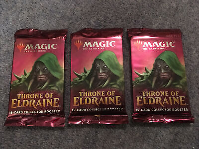 3x Magic The Gathering Throne Of Eldraine Collectors Boosters