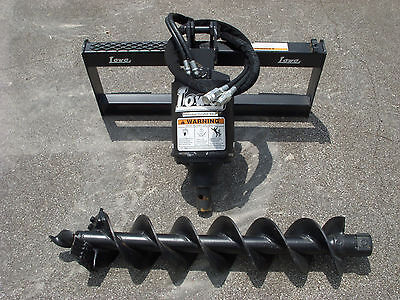 Bobcat Skid Steer Attachment - Lowe Bp210 Round Auger With 9 Bit - Ship 199