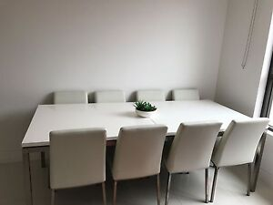Modern extendable dining table, chairs, coffee table set Mount Lewis Bankstown Area Preview