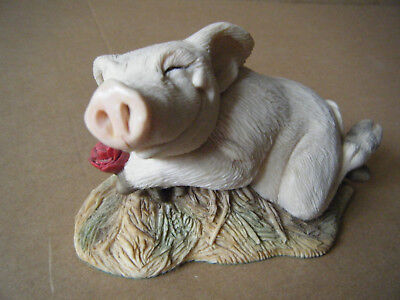 "Collectable ""PIGGIN' LOVE"" figurine.  By David Corbridge 1994. Unboxed."