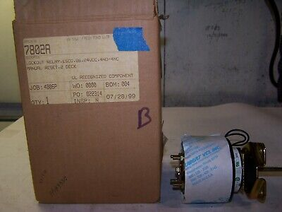 New Electroswitch Series 24 Lockout Relay 20 Amp 600 Vac24 Vdc 7802a
