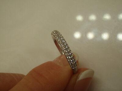 VERA WANG LOVE COLLECTION 3/8 CTW 2 ROW DIAMOND WEDDING BAND RING 14KWG 1299.99 2 Row Wedding Band Ring