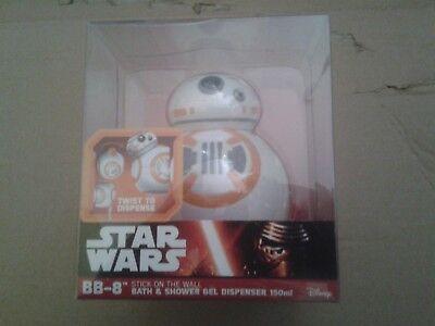 Star Wars BB8 Shower Gel Dispenser BNIB 150ml  BNIP  NEW (Collection Gel Dispenser)