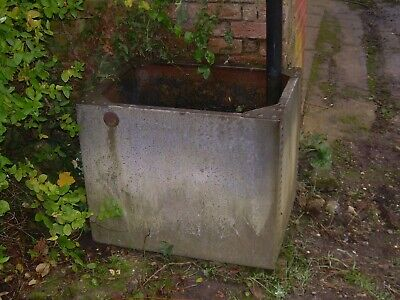 Vintage Large Galvanised Riveted Water Butt / Planter