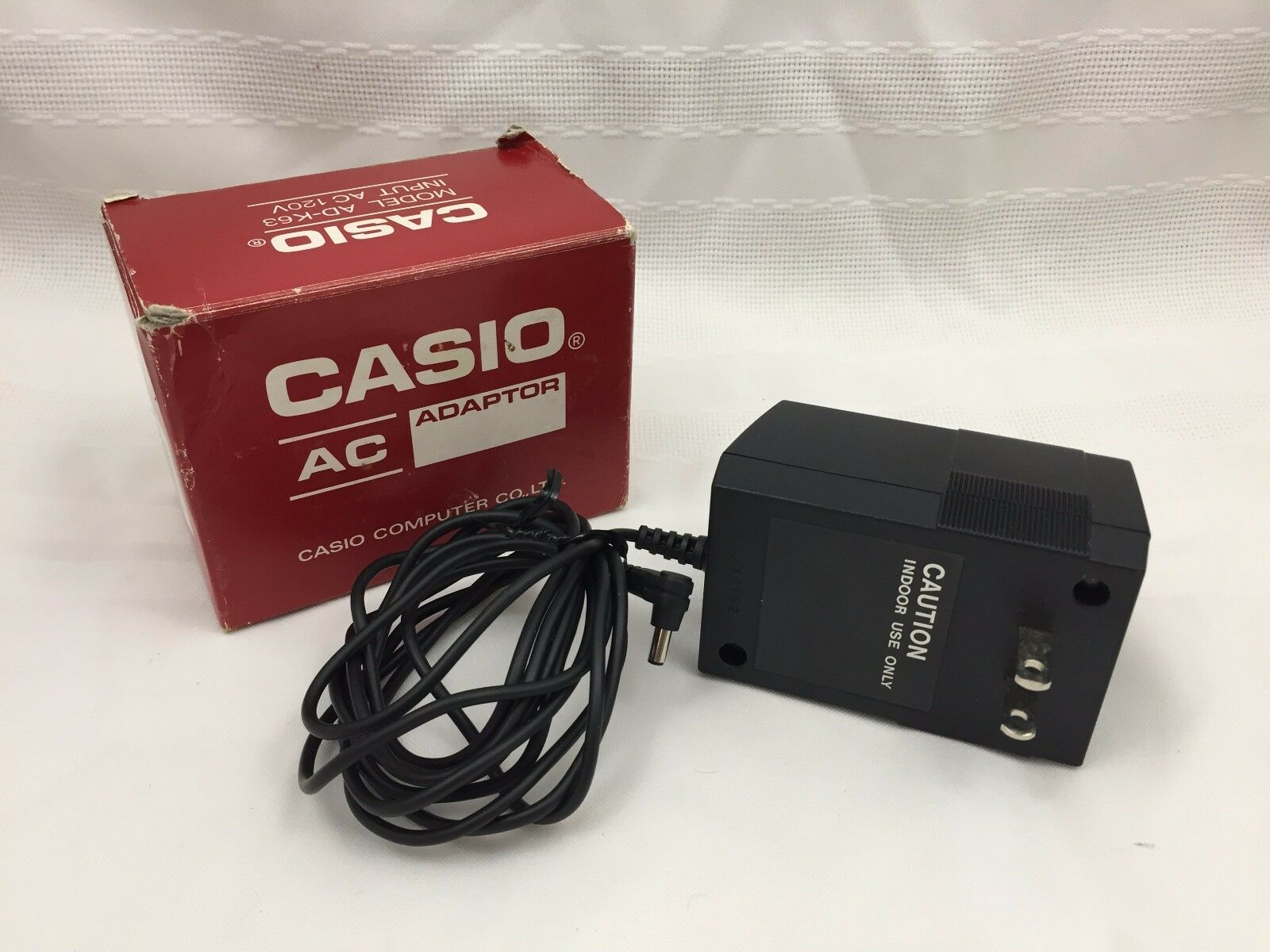 CASIO AC ADAPTER MODEL AD-K63 INPUT AC 120V K8662 LIQUID CRYSTAL DISPLAY MODULE