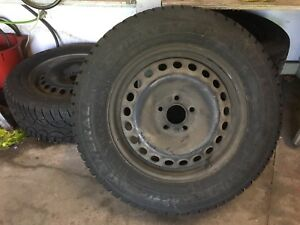 215-65-16 General Altimax Arctic on steel rims