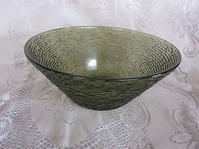 Anchor Hocking Avacado Green Soreno  Salad Bowl