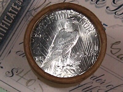 Peace Dollar Roll ((ONE) $20 SILVER UNCIRCULATED GEM BU PEACE DOLLAR)