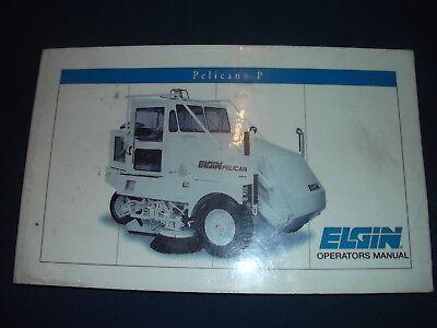 Elgin Pelican P Series Street Sweeper Operator Operation Maintenance Manual