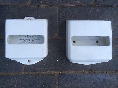 X2 Jeyes Ceramic Toilet Paper Holder, Vintage Original Pottery,Tissue Dispenser