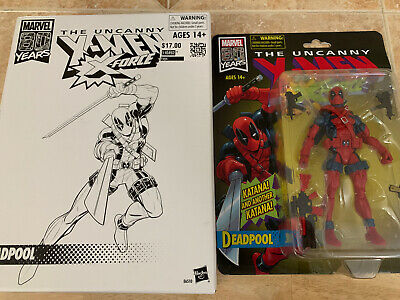 "HASBRO MARVEL LEGENDS 80th THE UNCANNY X-MEN X-FORCE 6"" DEADPOOL"