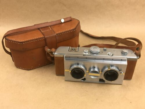 Contura Stereo Camera #A139 with 35m F/2.7 Volar Lens & Leather case - Very Rare
