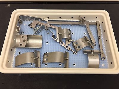 Rib Retractor System Rr-a W Storage Tray 15 Piece Set Surgical
