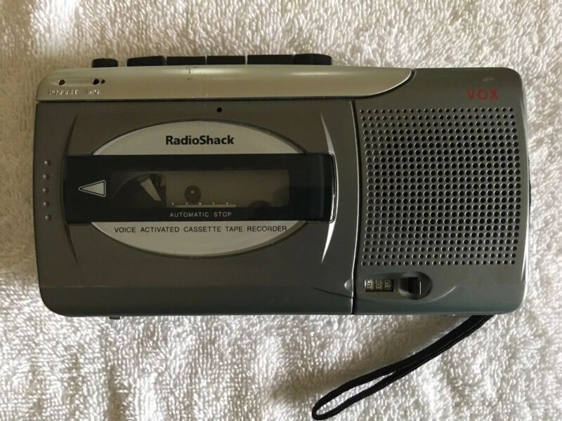Radio Shack VOX CTR-123 Voice Activated Cassette Tape Recorder 14-1130