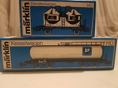 Märklin H0 #4661, 4653 Behälter-u. Kesselwagen OVP aus Händlernachlass