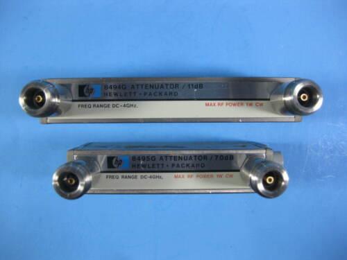 HP Attenuator -- 8494G + 8495G -- (1 Pair) Used