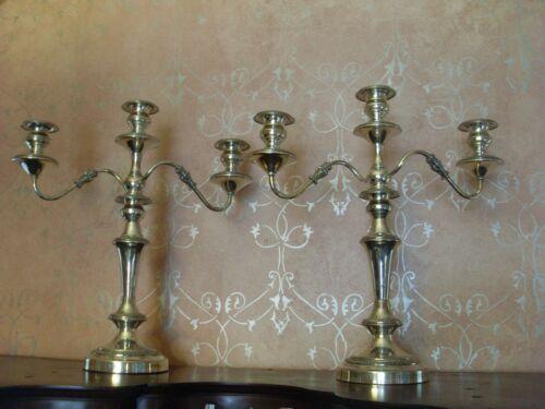 HUGE Vintage Silverplate Candlabra Candle Holders