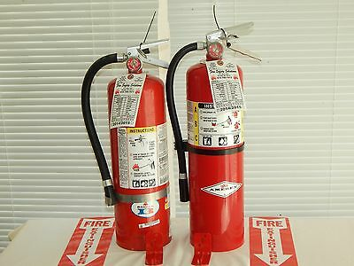 Fire Extinguisher - 10lb Abc Dry Chemical - Lot Of 2 Scratchdent
