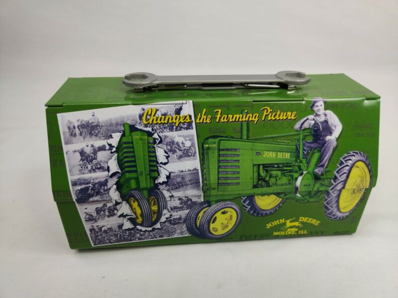 John Deere Tin Lunch Box With Wrench Handle JOHN DEERE LICENSED