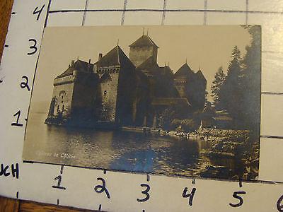 Original unused POSTCARD: CHATEAU de CHIFFON real photo SWITZERLAND