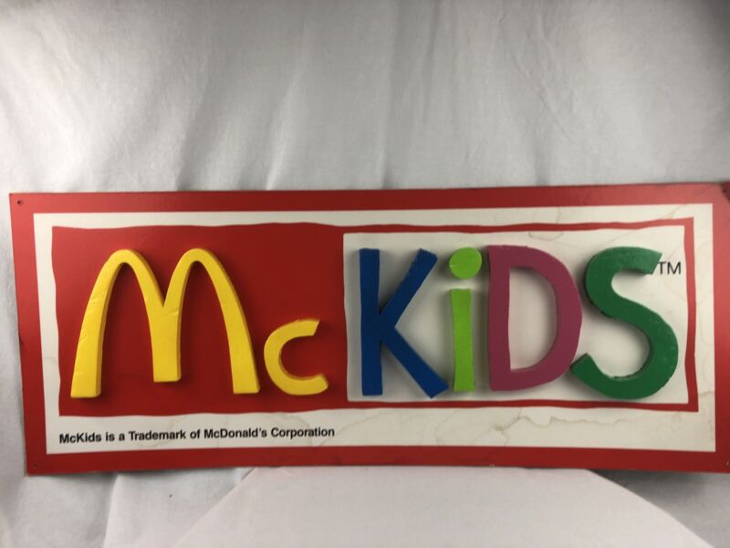 Vintage McKids Sign