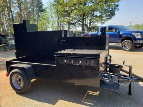Blackstone Griddle Propane GodZilla BBQ Grill Smoker Trailer Food Truck Catering