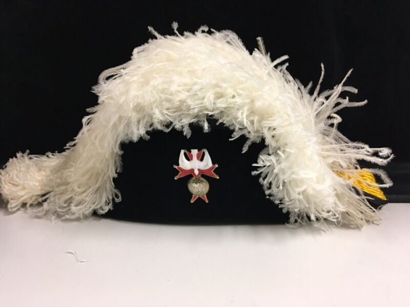 Authentic Knights Of Columbus Lynch & Kelly Ostrich Feather Hat